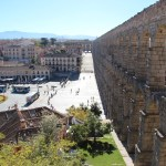 Central Segovia with aqueduct
