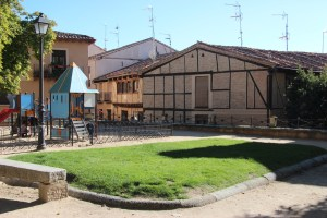Half-timber house and playground