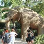 Wolly Mammoth statue in the park
