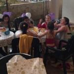 Girls enjoying lunch