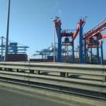 Big cranes at the port