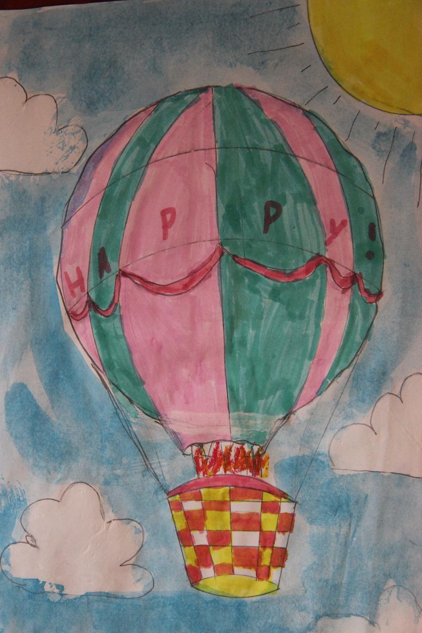 Hot-air-balloon-using-highlighters