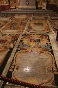 Floor in the German chapel is extra shiny