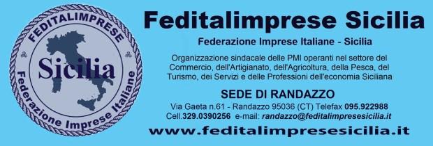 Feditalimprese Sicilia - sede RANDAZZO STRISCIONE