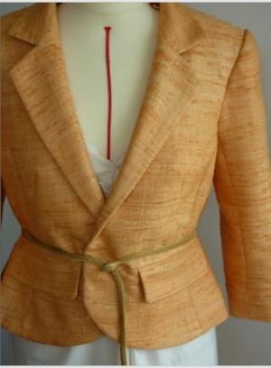 Veste en soie par Fée au Château couturière costumière à Versailles