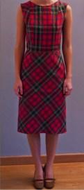 robe fourreau à carreaux par Fée au Château couturière costumière à Versailles