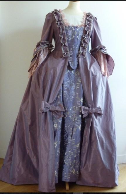 robe à la française sur mesure par Fée au Château couturière costumière à Versailles