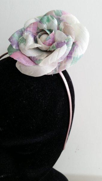 parures florales en soie par Fée au Château couture