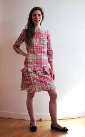 robe de cocktail en laine par Fée au Château couturière costumière à Versailles