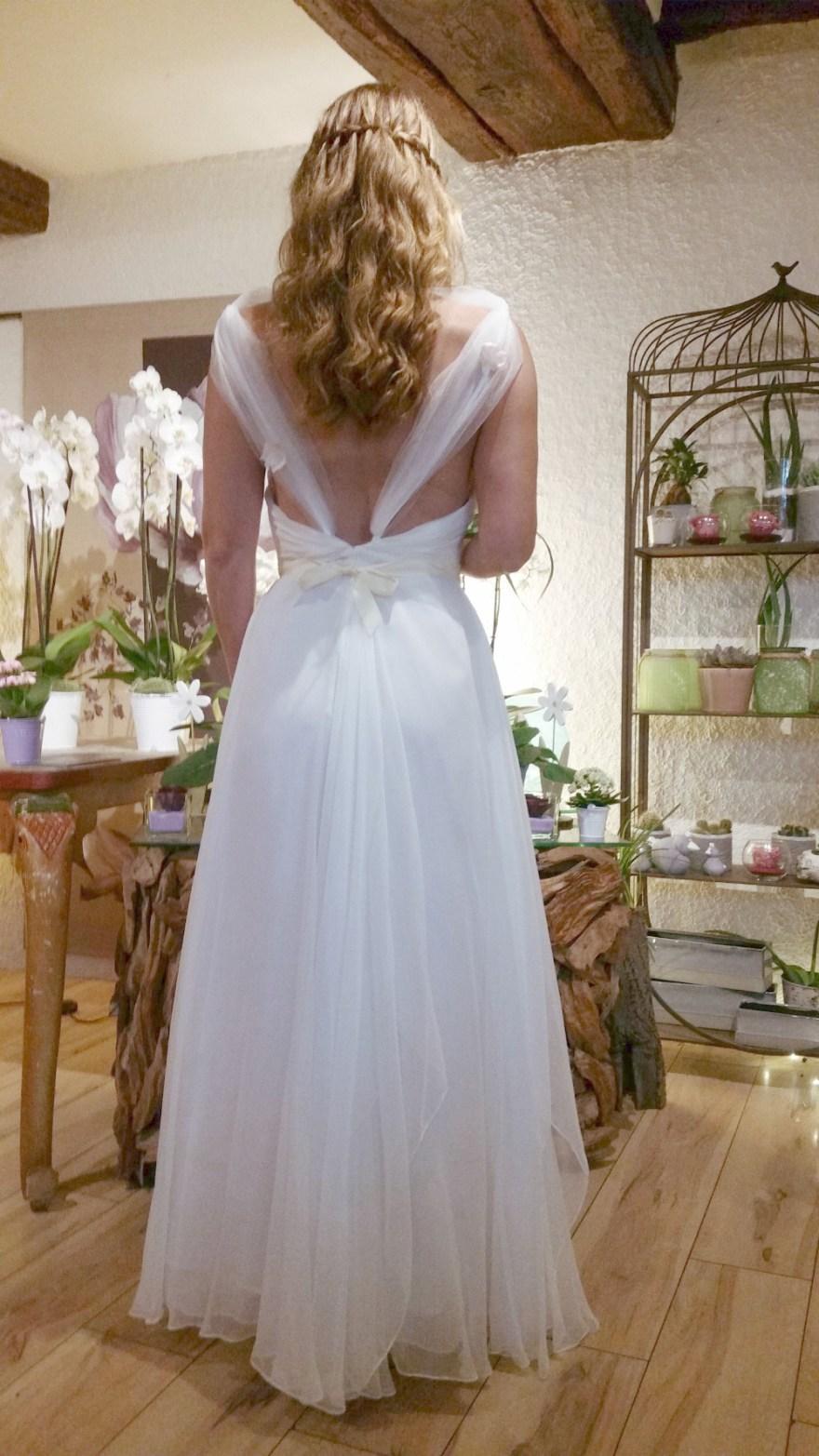 robe de mariée en mousseline sur mesure