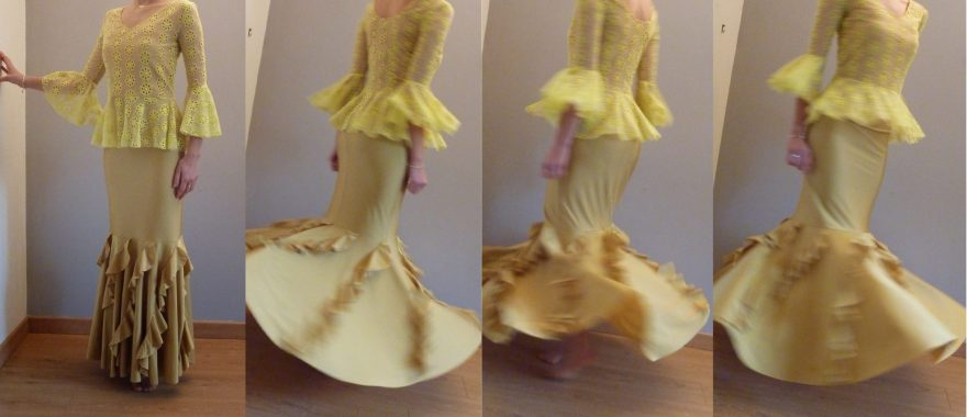 Robe de danse flamenco à Versailles