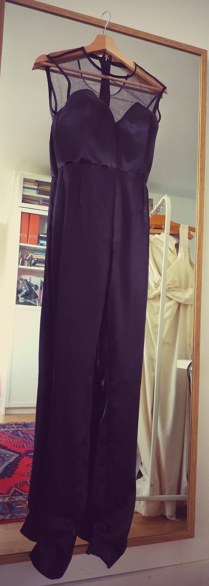 combi-pantalon en soie couture sur mesure à Versailles