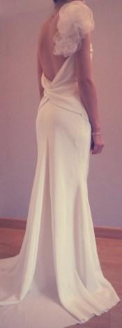robe de mariée en soie par créatrice couture Versailles