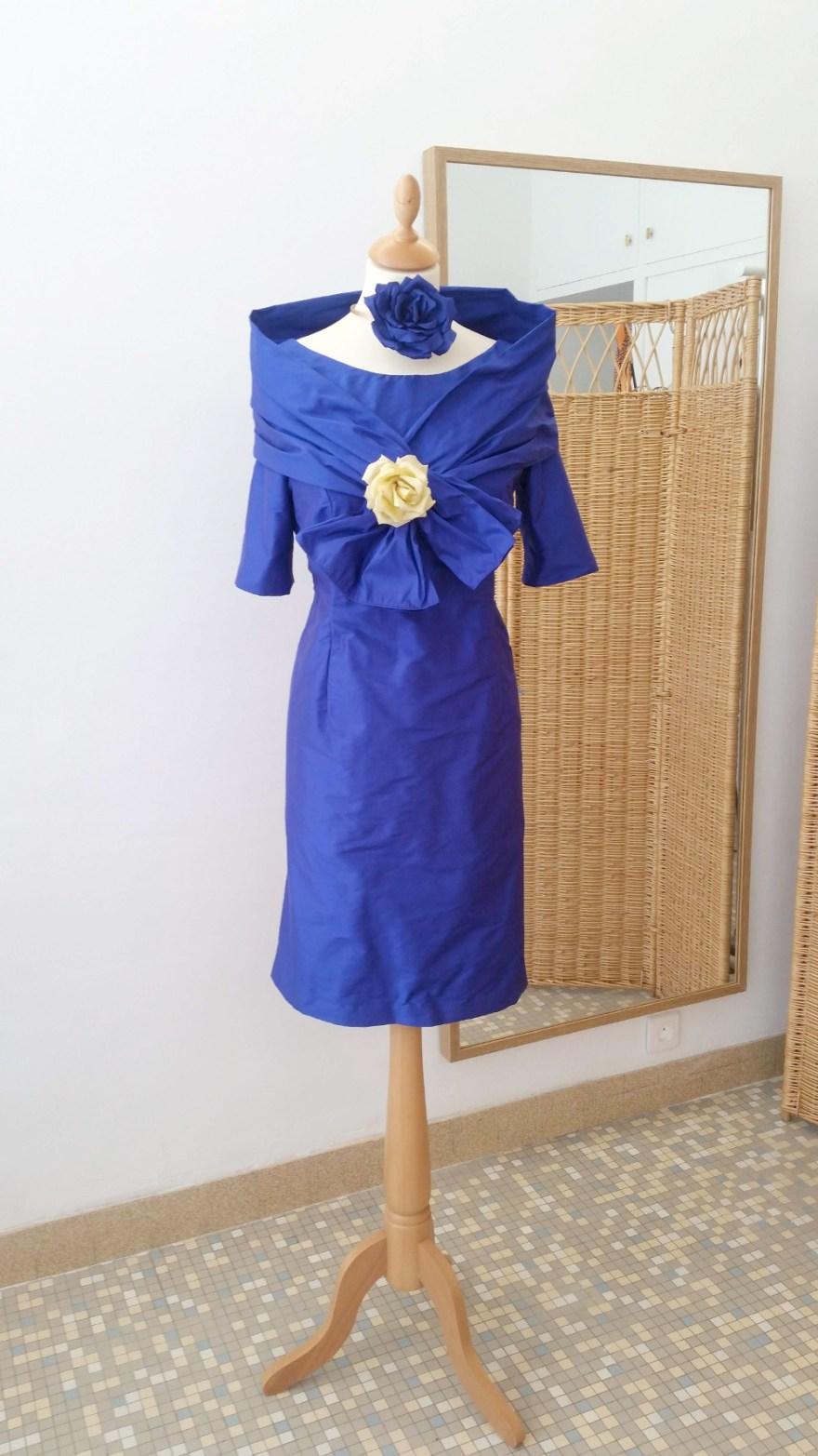 robe de maman de mariée couture par artisan couturière à Versailles