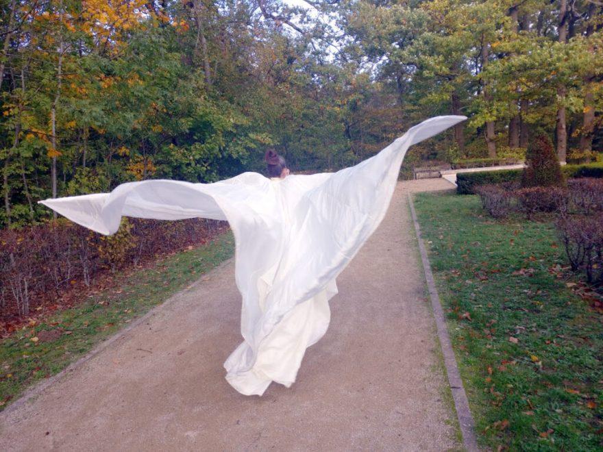 Costume de scène Loïe Fuller par Fée au Château vos créations couture à Versailles