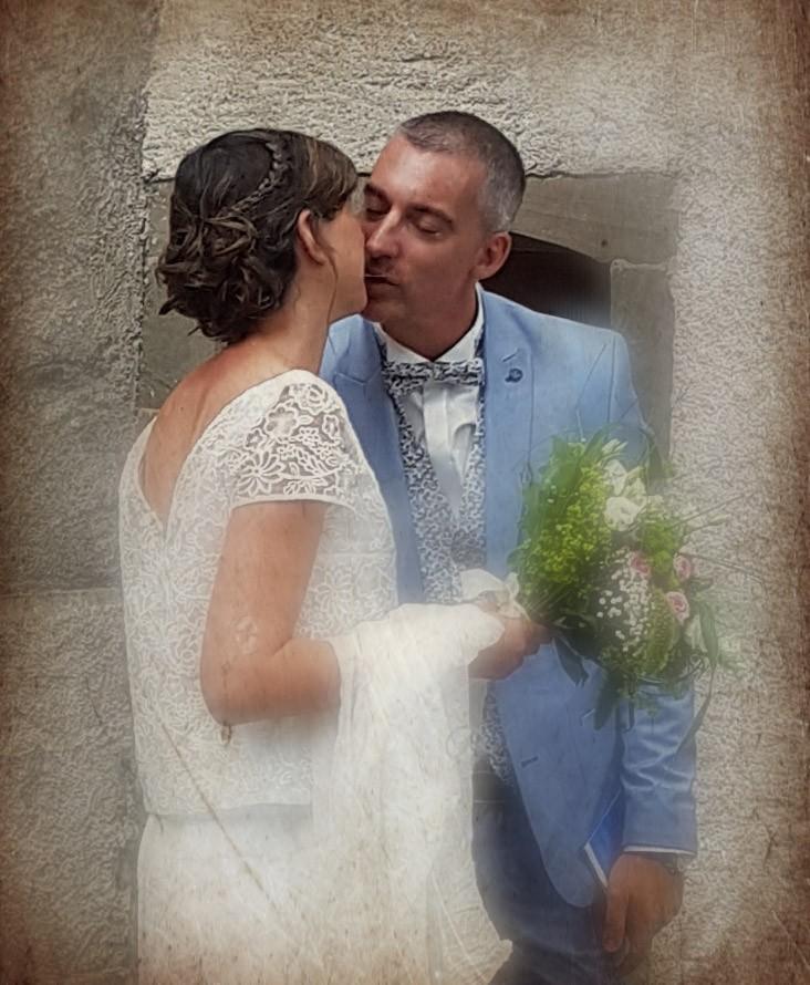 Tenue de mariée couture par Fée au Château couturière costumière à Versailles