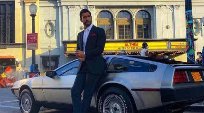 Lucifer Season 6 First Look Image shows the devil and car