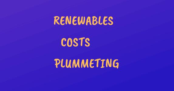Banner: Renwables costs plummeting