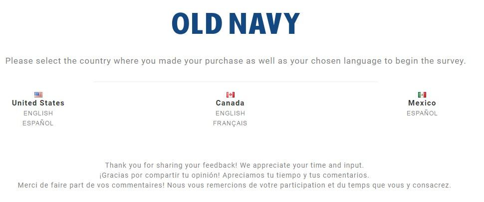 www.Feedback4OldNavy.com (New)- Feedback 4 Old Navy Survey