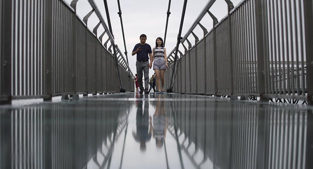 glass bridge,Hebei province,China
