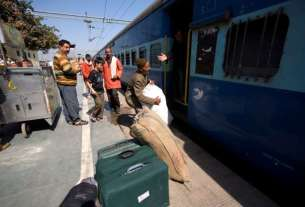 Train travel,RAILWAY,penalty on excess luggage, 6 time penalty