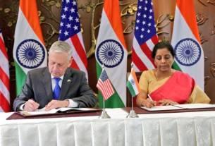 India, COMCASA, China, America, 2+2 talk, 2+2 dialogue, World News