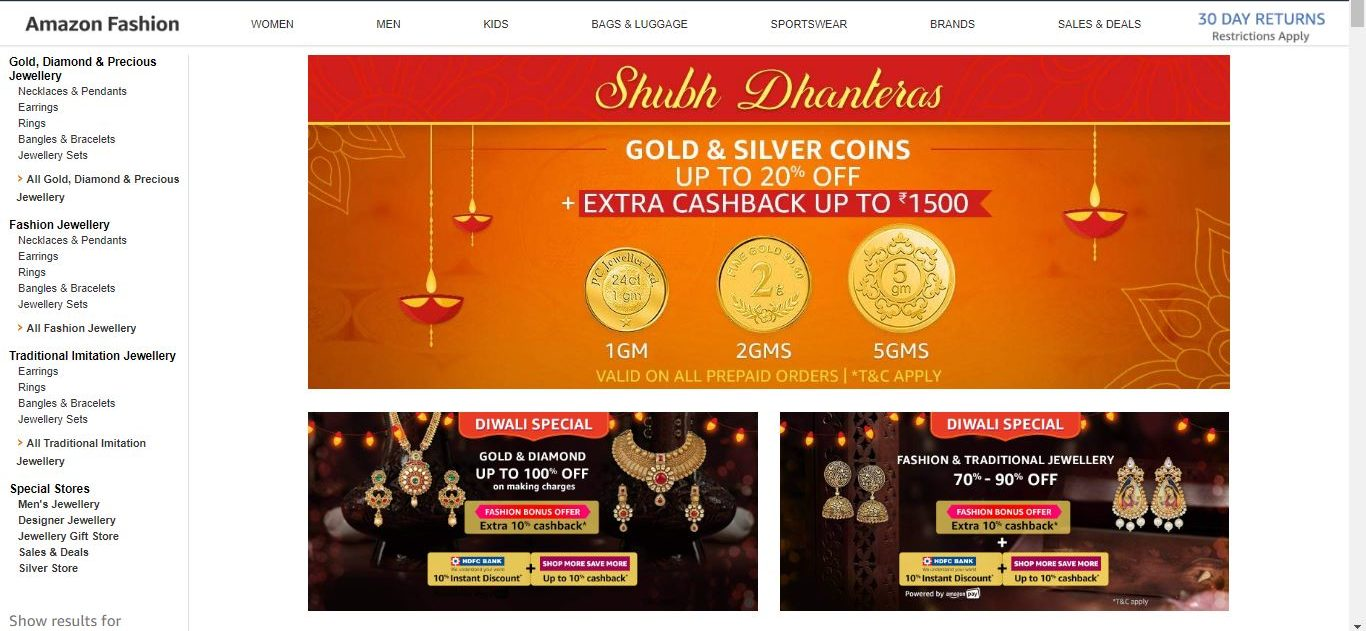 tech news, Flipkart, discount on gold, dhanteras 2018, apps to buy jewellery, apps to buy gold, Amazon