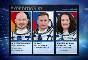 Nasa, astronaut in space, Science News,Soyuz MS-09,Serena M. Auñón-Chancellor, Sergey Prokopyev,A.J. (Drew) Feustel
