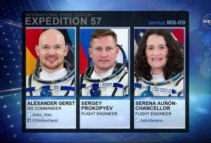 Nasa, astronaut in space, Science News,Soyuz MS-09,Serena M. Auñón-Chancellor, Sergey Prokopyev,A.J. (Drew) Feustel