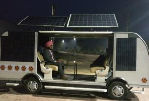 solar powered bus, Smart bus, Punjab students, driverless bus, Car Bikes News