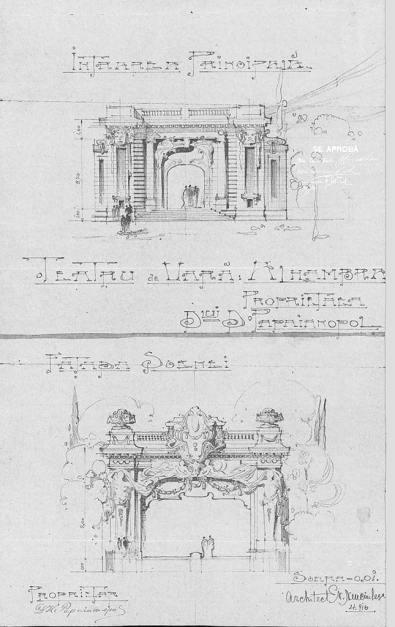 Teatru de vară Alhambra str Sărindar. foto Arh. Nicolae Nenciulescu, Mai 1916