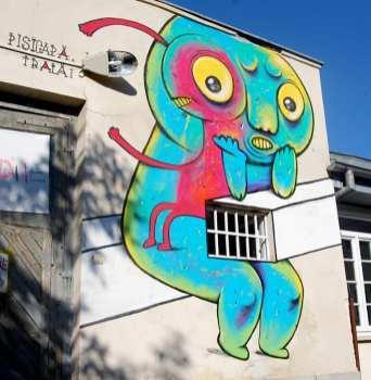 2013 Pisica Patrata mural in Iasi