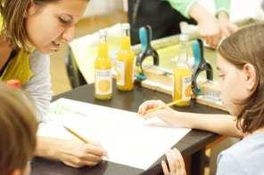 BTLT: Paint-a-monument / Atelier pentru copii / Serebe (desen) + Octav (serigrafie)