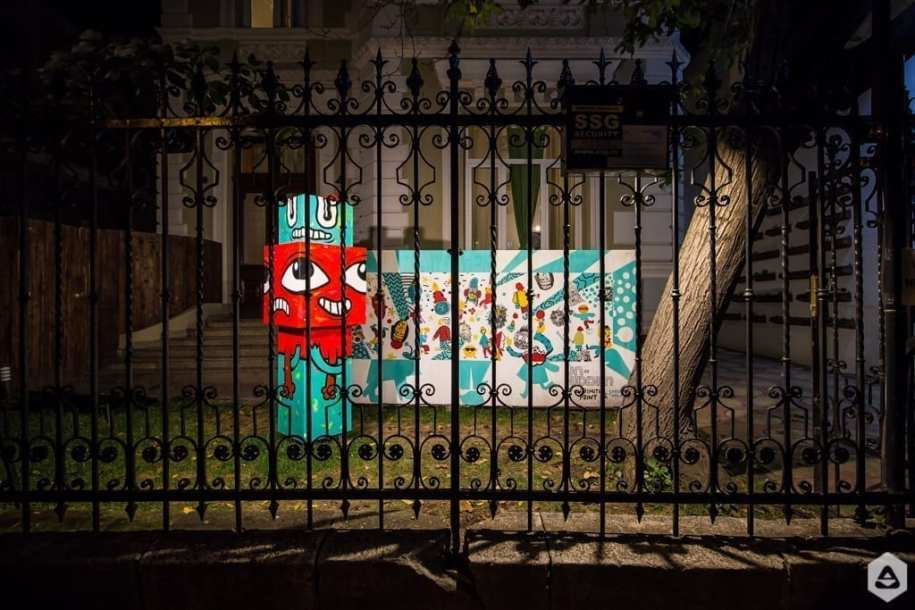 Pisica Pătrată & Cât pe ce // Sorina Vazelina & Primitiv Print @ Lente Lupu - Un Hidden Bucharest street art map by Save or Cancel