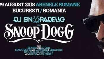DJ Snoopadellic A.K.A Snoop Dogg // 29 august //Arenele Romane
