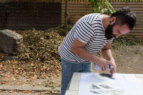 Un-hidden Bucharest John Dot S atelier stencil Dizainăr