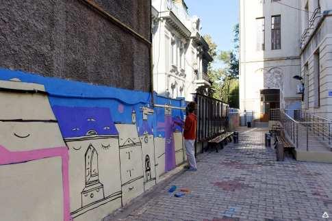 Un-hidden Bucharest Lucian Nita - KSELEQOQYNQYSHY mural Facultatea de Sociologie 10