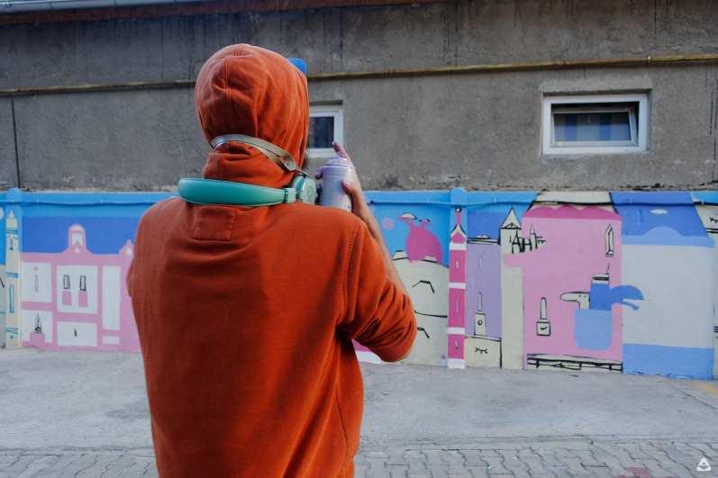 Lucian Niță – KSELEQOQYNQYSHY Un-hidden Bucharest street art tour 3 x Open Door Travel outside the box