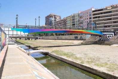 Felipe Pantone Bridge for MAUS Málaga.