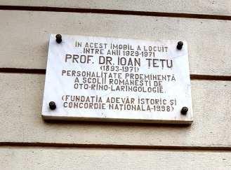 Casa in care a locuit Dr. Ioan Tetu la nr 50