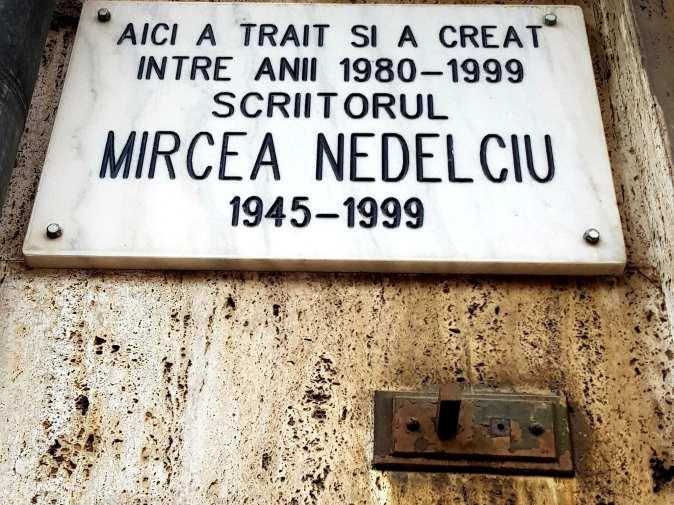 Casa in care a locuit Mircea Nedelciu la nr 65