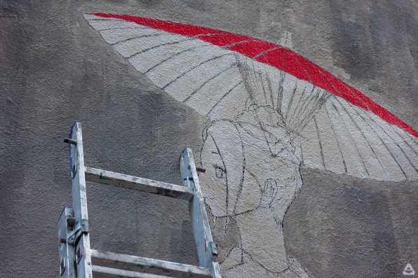 Japanese street artist Aito Kitazaki at Lente 28