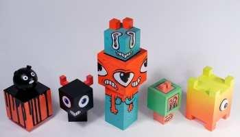 Pisica Patrata Art toys