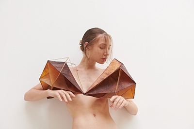 Khajornsak Nakpan - Thailand Body Piece AdornedDin#2RSide 2021 bronze bio melanin cellulose 55 x 30 x 30cm