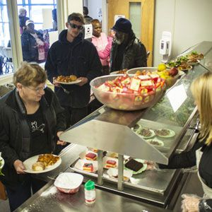 A food pantry in Myrtle Beach serves people in need.