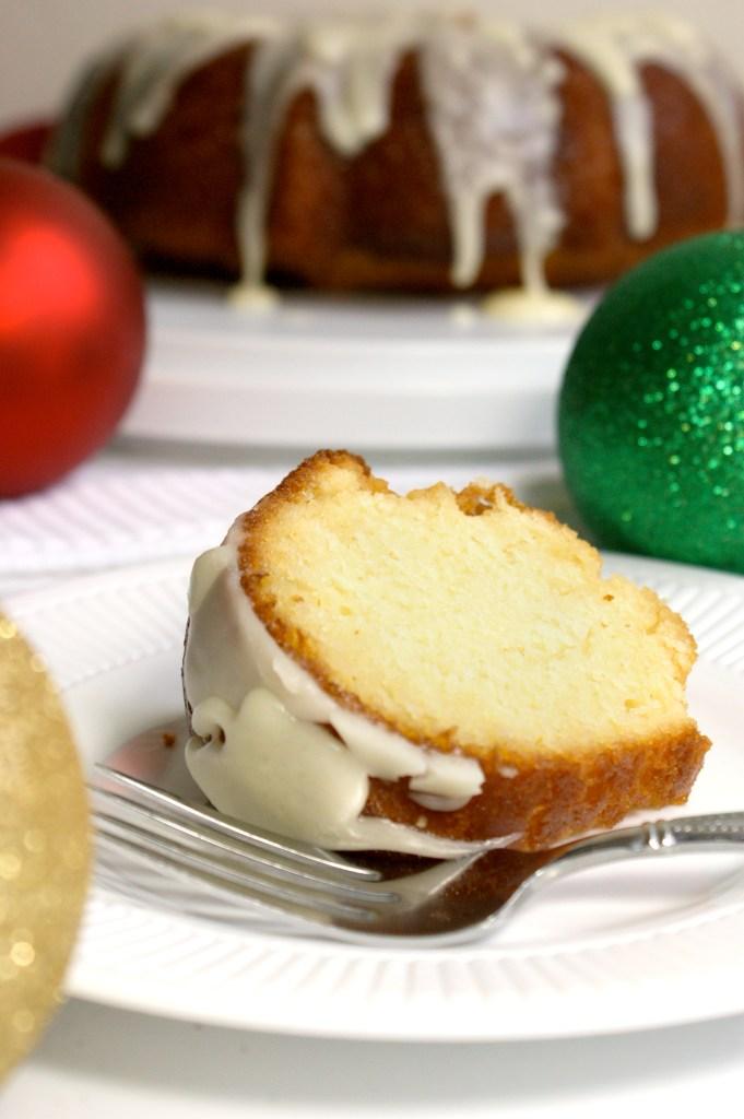 double eggnog pound cake