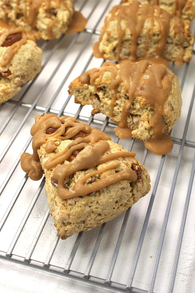 Maple Oat and Pecan Scones