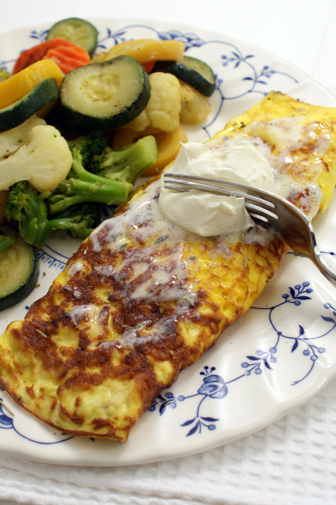 omelet with mascarpone