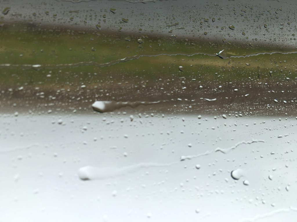 Out the car window in the rain... Just kinda thought it looked cool.