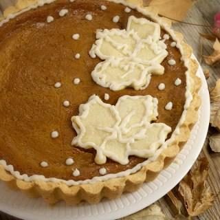 Pumpkin Pie Tart With Vanilla Bourbon Icing
